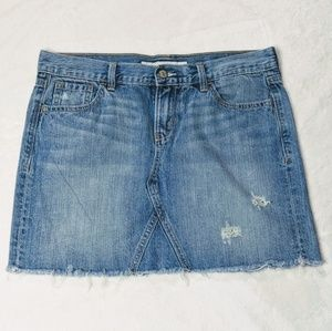 OLD NAVY | Mini Distressed Jeans Skirt